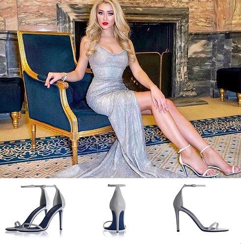 Classy white high heels