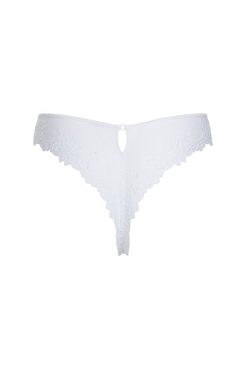 CHARLENE WHITE LACE KNICKERS WITH SWAROVSKI™ CRYSTALS