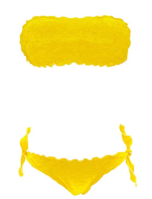 Bikini Apollo  -Bright yellow bikini with soft touch fabric