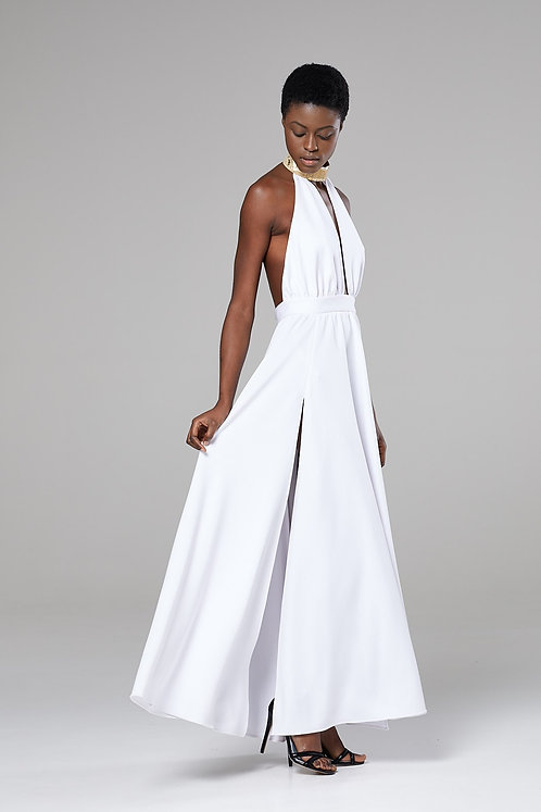 CWS Stunning cocktail dress with gold leather belt