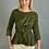 Thumbnail: Jasmine Elegant 3/4 sleeve length green Lightweight Top