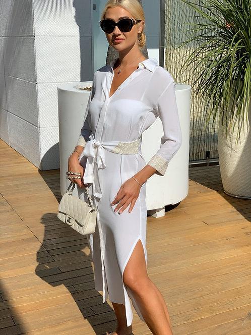 Royal Cape 100% Silk Long Dress