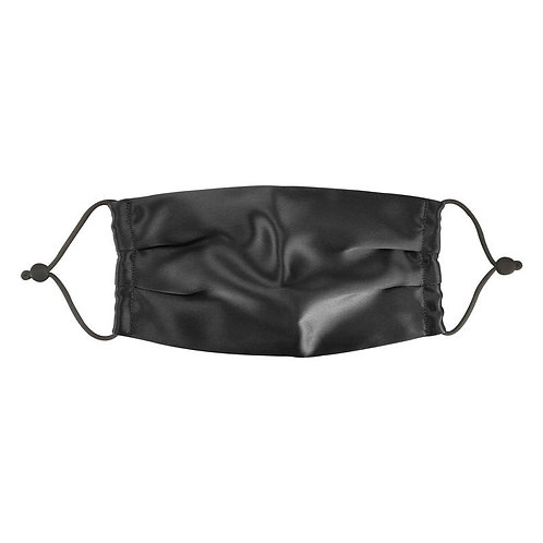Armelle Black Silk Face Mask for Women and Man