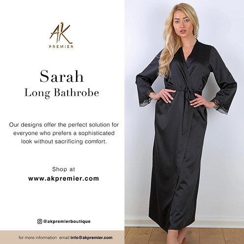 Sarah long silky classic bathrobe