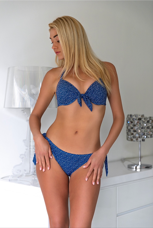 Estelle Navy Blue Push up Bikini Set