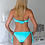Thumbnail: Alexandrina turquoise  Swimwear Set with Swarovski crystals