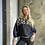 Thumbnail: Exquisite Silk Bomber Jacket with hand embroidered beads and Mother Nature creat