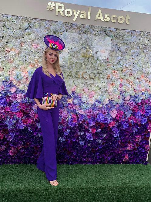 Elegant Purple Jumpsuit
