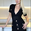 Thumbnail: Laura Black stretch bodycon fitted V-Neck Dress