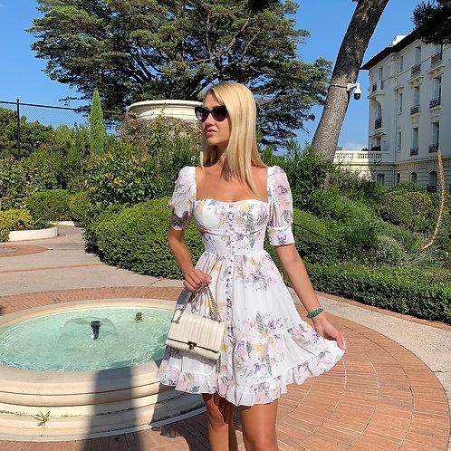 Angelique White Summer Floral Dress