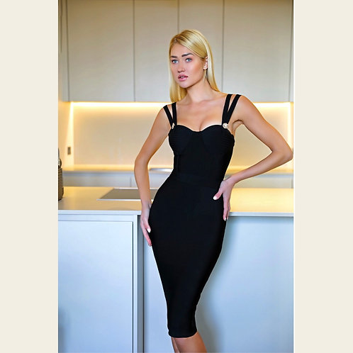Sandra Black Bodycon Dress