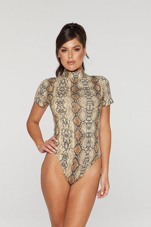 Snake print body suit Reg 31 Top
