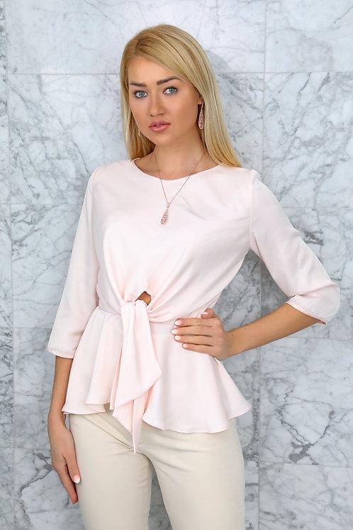 Elegant 3/4 sleeve length Pastel cream Top