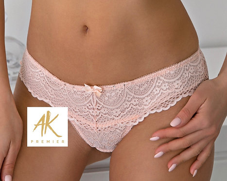 Rozelle Nude G-string with Swarovski Crystals