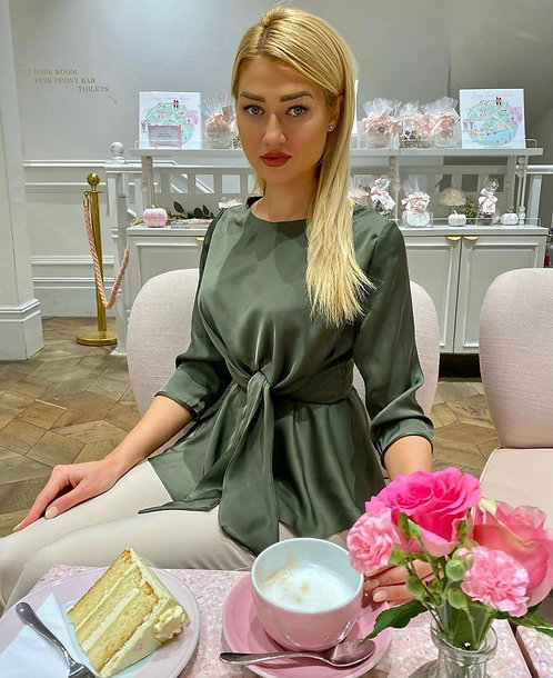 Jasmine Elegant 3/4 sleeve length green Lightweight Top