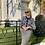 Thumbnail: Elegant black & white wool tweed suit