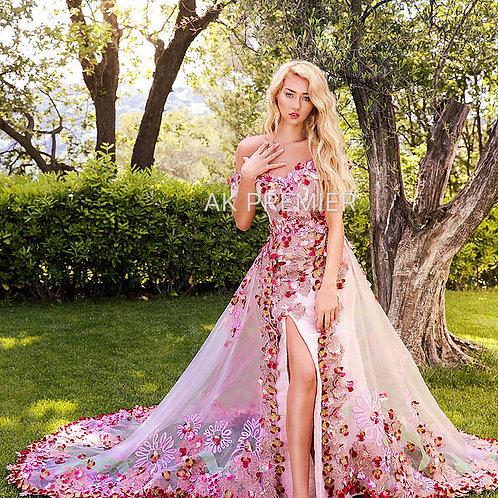 Rosa Couture Flower Gown Unique Dress