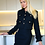 Thumbnail: Isabelle Royal Black Tweed Suit -Jacket & Skirt with gold buttons