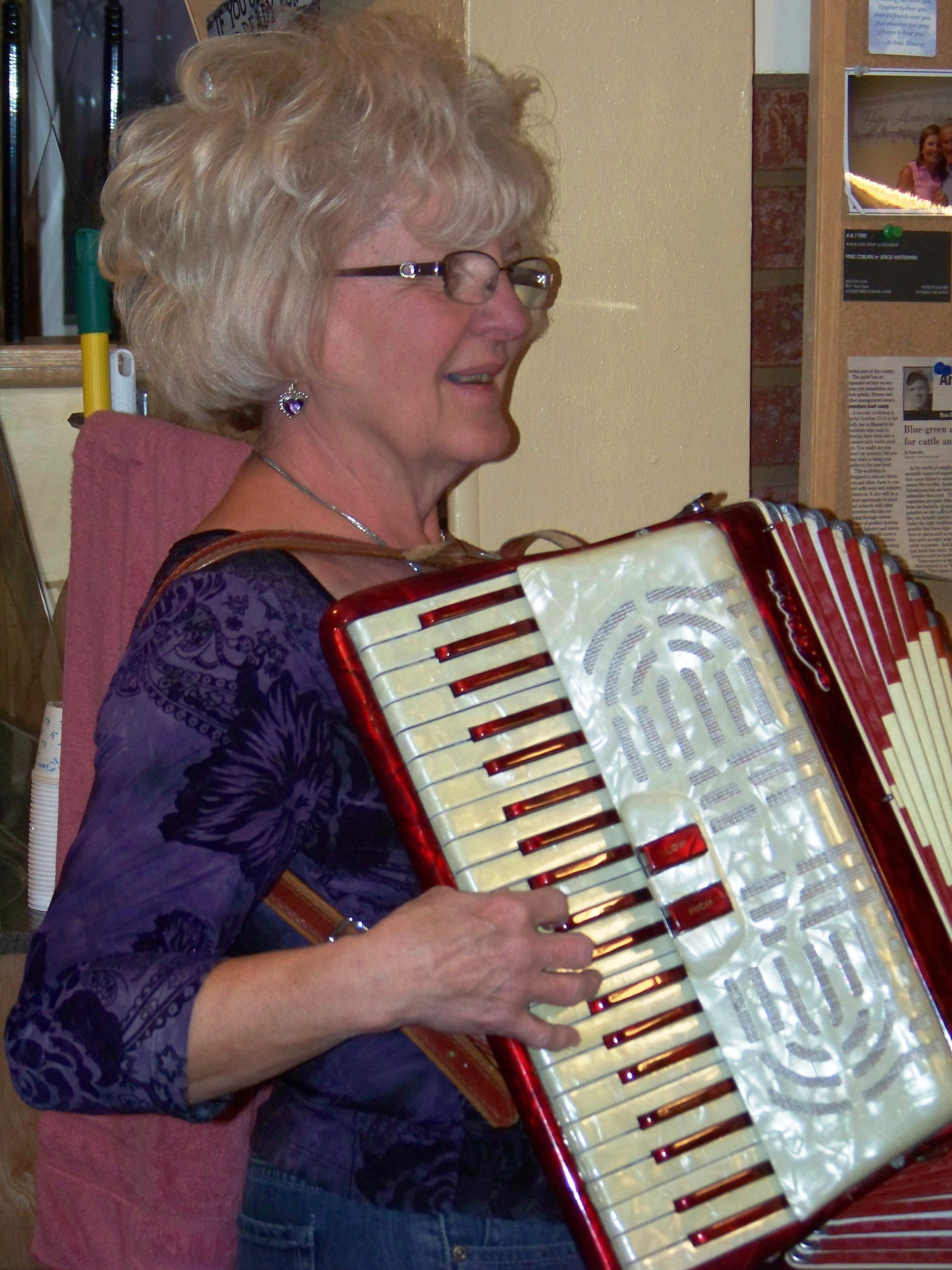 Mom on her accordian