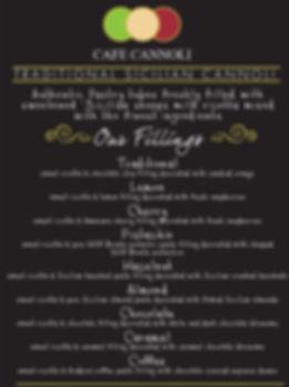 cafe cannoli menu