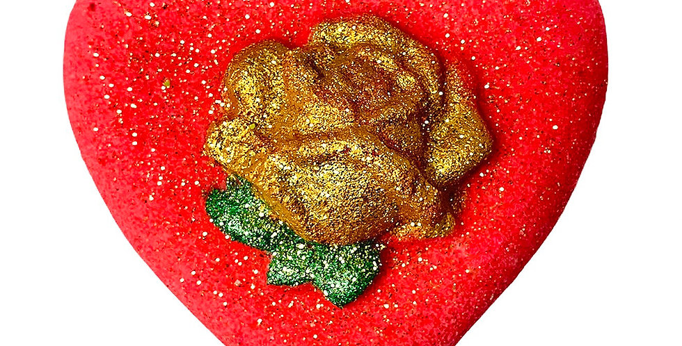 Rose Scented Heart Bath Bomb