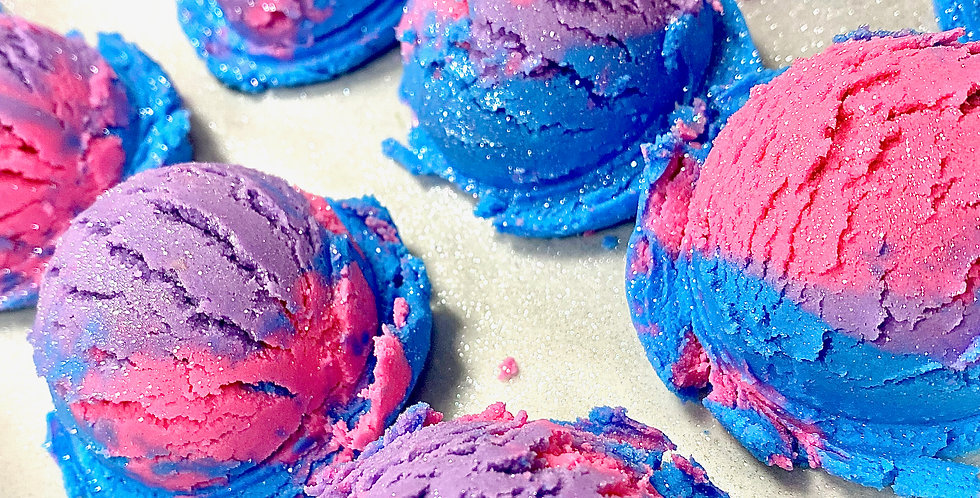 Cotton Candy Bubble Scoops (4 Pack)