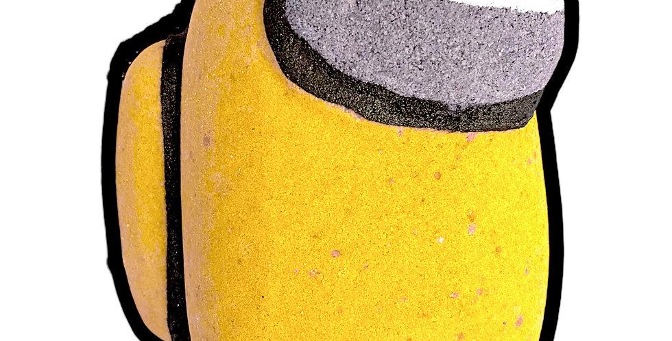 """Yellow """"Among Us"""" Crewmate Bath Bomb"""