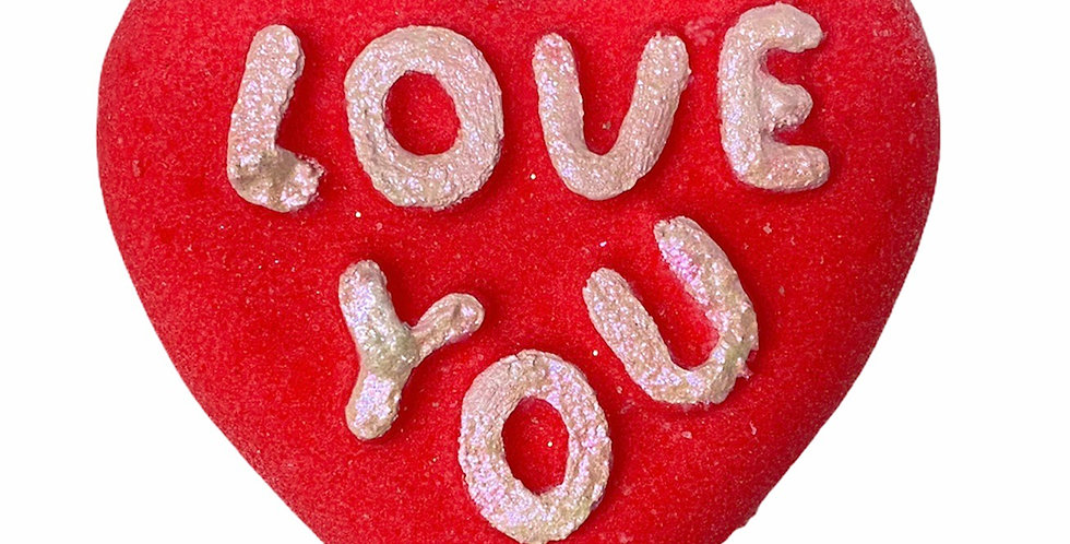 """Mother's Day """"Love You""""Heart Bath Bomb"""