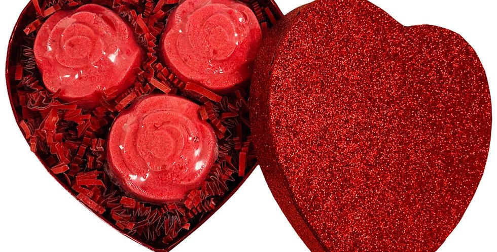 Valentines Rose Scented Bath Bomb Gift Set