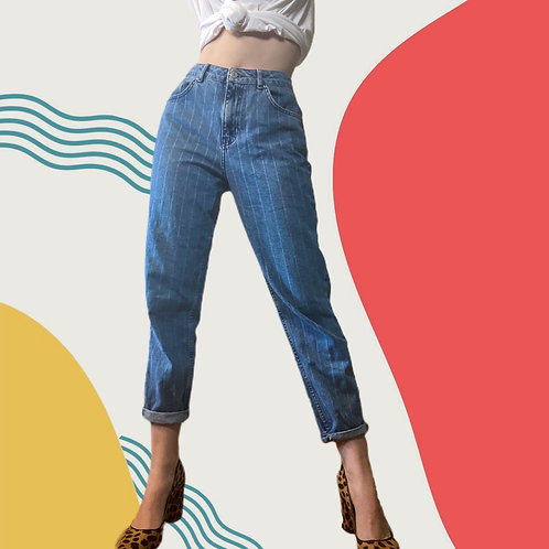 Pin-Striped Mom Jeans