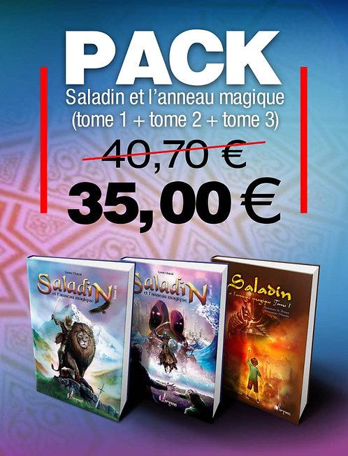 Pack Saladin et l'anneau magique Tome 1 + Tome 2+Tome 3