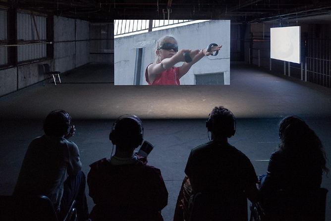Screening of ZHŌUWÉI.NETWORK (proof-of-concept) at MACA, Amsterdam in June 2019