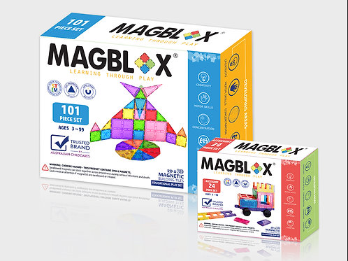 MAGBLOX® 101PCS AND ACCESSORY PACK 24PCS BUNDLE