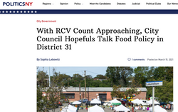 With RVC Count Approaching, City Council Hopefuls Talk Food Policy in District 31