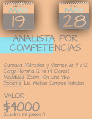 Tarjeta Analista por Competencias MAÑANA