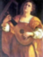 Generic illustration of female playing musical instrument.