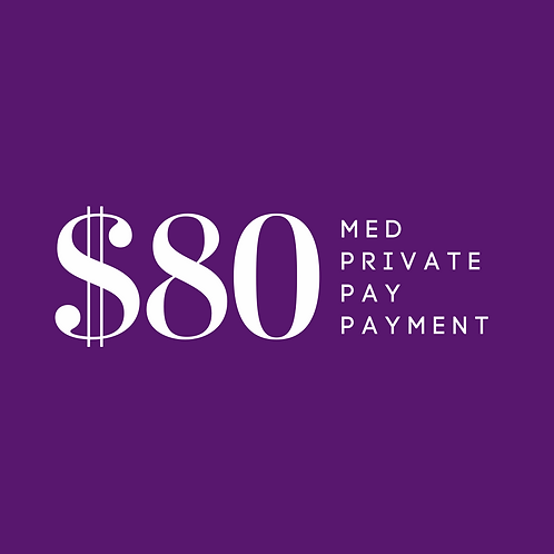 Med Private Pay Copay