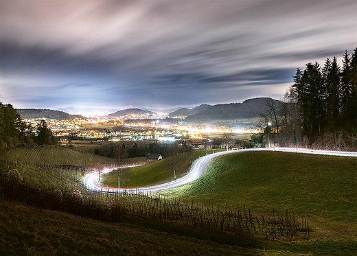 Blick von Neftenbach auf Winterthur Postkarte A6
