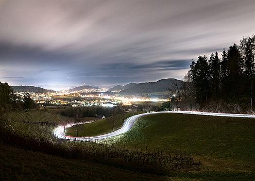 "Wandbild Motiv: ""Winterthur vom Irchel"""