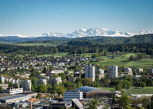"Wandbild Motiv: ""Berge über Winterthur"""