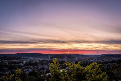 Winterthur Sonnenuntergang vom Goldenberg