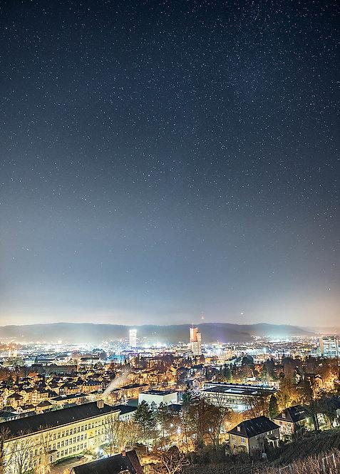 Sternenhimmel über Winterthur Postkarte A6