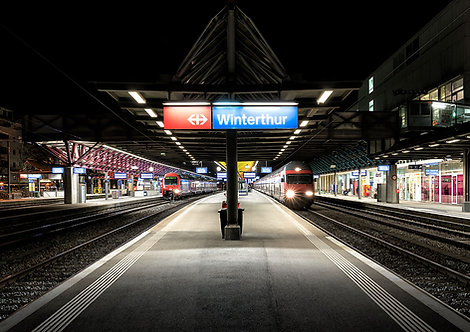 "Wandbild Motiv: ""Bahnhof Winterthur"""