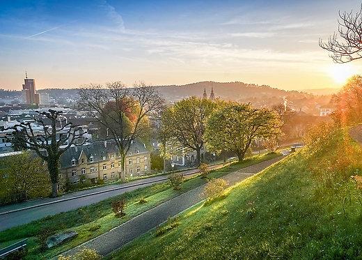 Sicht vom Heiligberg Winterthur Postkarte A6