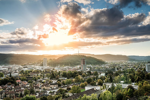 """Wandbild Motiv: """"Winterthur I"""""""