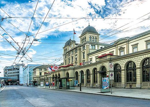 Bahnhofplatz Winterthur Postkarte A6