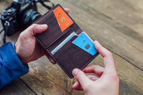 Corkor Kork Kreditkarten Portemonnaie mit Münzfach (mehrere Farbvarianten)