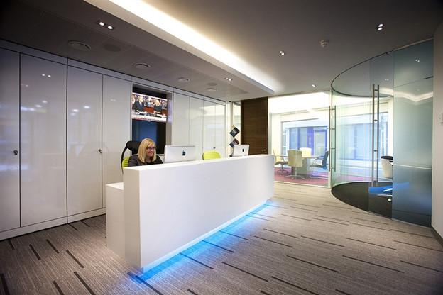 reception desk office commerical refurbishment furniture
