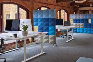 partitioning office desks furniture acoustics