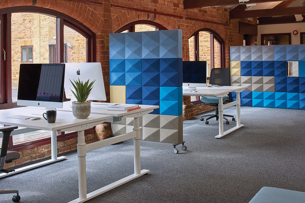 casual fabric sound control acoustics office work space
